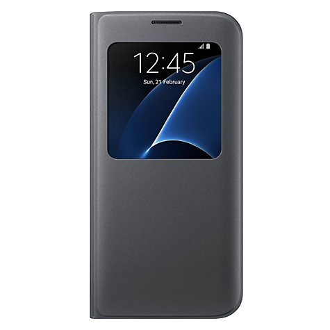 buy samsung view cover for galaxy s7 edge smartphone charcoal black john lewis