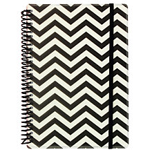 Buy Go Stationery Monochrome Bold Chevron A5 Notebook Online at johnlewis.com