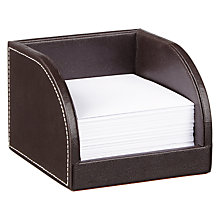 Buy John Lewis Pu Memo Pad Holder, Brown Online at johnlewis.com