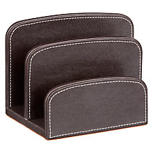 Buy John Lewis Pu 2 Slot Holder Desk Tidy, Brown Online at johnlewis.com