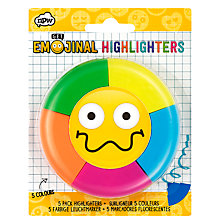 Buy Emojinal Highlighters, Pack of 5 Online at johnlewis.com