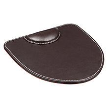Buy John Lewis Pu Mouse Pad, Brown Online at johnlewis.com