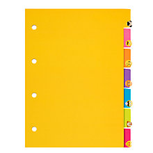 Buy Emojinal Subject Dividers, Pack of 4 Online at johnlewis.com