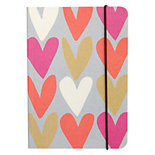 Buy Caroline Gardner Hearts A5 Notebook Online at johnlewis.com