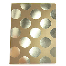 Buy Go Stationery Polka Dot Kraft A5 Notebook, Gold Online at johnlewis.com