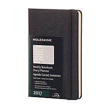 Buy Moleskine A6 Hardcover 2017 Pocket Weekly Diary, Black Online at johnlewis.com