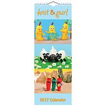 Buy Portico Knit & Purl 2017 Calendar, Slim Online at johnlewis.com
