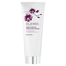 Buy Elemis Sweet Orchid Hand & Nail Cream, 100ml Online at johnlewis.com