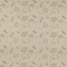 Buy John Lewis Delphi Leaf Furnishing Fabric, Duck Egg Online at johnlewis.com