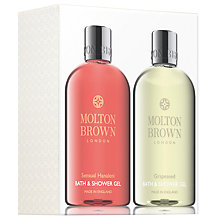 Buy Molton Brown Sensual Hanaleni & Grapeseed Bath & Shower Gel Set Online at johnlewis.com