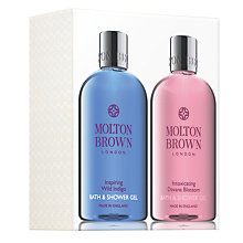 Buy Molton Brown Inspiring Wild Indigo & Intoxicating Davana Blossom Bath & Shower Gel Set Online at johnlewis.com