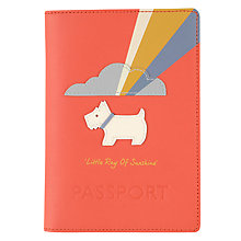 Buy Radley Little Ray of Sunshine Leather Passport Cover, Orange Online at johnlewis.com