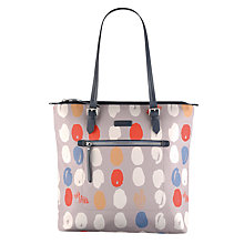 Buy Radley DNA Large Zip Top Tote Bag, Grey Online at johnlewis.com