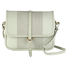 Buy Radley Dalston Leather Small Flapover Across Body Bag, Sage Green Online at johnlewis.com