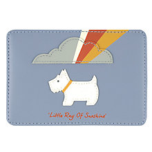 Buy Radley Little Ray of Sunshine Leather Cardholder, Blue Online at johnlewis.com