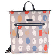 Buy Radley DNA Large Zip Backpack, Grey Online at johnlewis.com