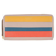 Buy Radley Willow Stripe Large Zip Matinee Purse, Taupe Online at johnlewis.com
