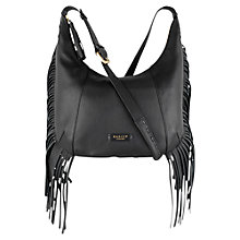 Buy Radley Fallows Medium Leather Across Body Bag, Black Online at johnlewis.com