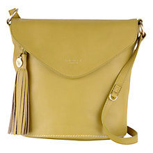 Buy Radley Tarling Medium Leather Flap Over Grab Bag, Reed Green Online at johnlewis.com