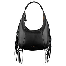Buy Radley Fallows Large Leather Hobo Bag, Black Online at johnlewis.com