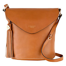 Buy Radley Tarling Medium Leather Flap Over Grab Bag Online at johnlewis.com
