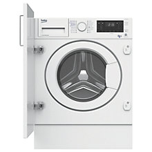 Buy Beko WDIY854310 Integrated Washer Dryer 8kg Wash/5kg Dry Load, 1400rpm Spin, A Energy Rating, White Online at johnlewis.com