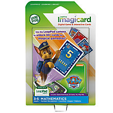 Buy LeapFrog Imagicard PAW Patrol Learning Game, Age 3-5 yrs Online at johnlewis.com