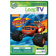 Buy LeapFrog LeapTV Game: Blaze and the Monster Machines, Ages 3-5 yrs Online at johnlewis.com