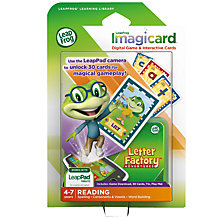 Buy LeapFrog Imagicard Letter Factory Adventure Learning Game, Ages 4-7 yrs Online at johnlewis.com