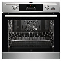 Buy AEG BE500352DM SteamBake Built-In Multifunction Electric Single Oven, Stainless Steel Online at johnlewis.com