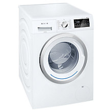 Buy Siemens iQ300 WM14N200GB Freestanding Washing Machine, 8kg Load, A+++ Energy Rating, 1400rpm Spin, White Online at johnlewis.com
