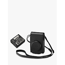 Buy Panasonic TZ100 Leather Camera Case & Battery Kit, Black Online at johnlewis.com