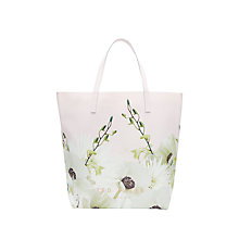 Buy Ted Baker Jacline Pearly Petal Large Shopper Bag, Dusky Pink Online at johnlewis.com