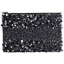Buy John Lewis Giorgia Sequin Pouch, Black Online at johnlewis.com
