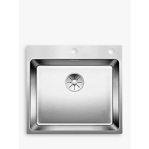 ... 500IFA Single Bowl Inset Kitchen Sink, Stainless Steel John Lewis