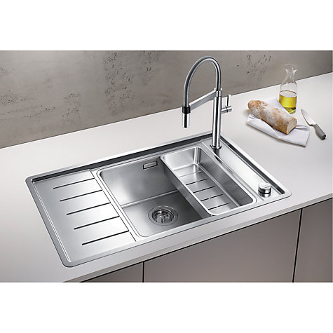 ... XL 6 S-IF Compact Inset 1.5 Kitchen Sink, Stainless Steel John Lewis
