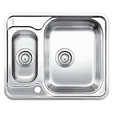 Buy Blanco Lantos 6-IF 1.5 Bowl Inset Sink, Stainless Steel Online at johnlewis.com