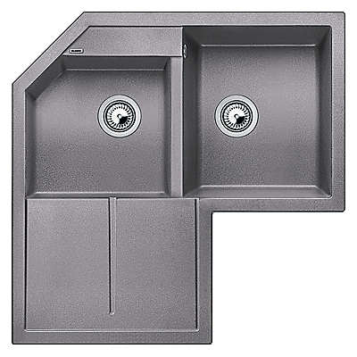 blanco metra 9 e 2 composite granite sink with right hand bowl alu