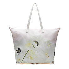 Buy Ted Baker Olivine Pearly Petal Foldaway Shopper Bag, Ash Online at johnlewis.com