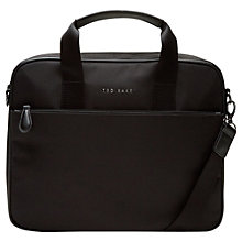 Buy Ted Baker Stamp Nylon Document Bag, Black Online at johnlewis.com