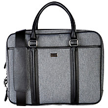 Buy Ted Baker Carbon Nylon Document Bag, Grey Online at johnlewis.com