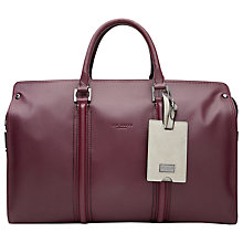 Buy Ted Baker Dogtag Leather Holdall, Oxblood Online at johnlewis.com