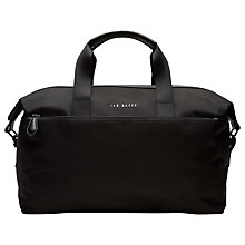 Buy Ted Baker Wood Nylon Holdall, Black Online at johnlewis.com