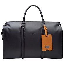 Buy Ted Baker Dogtag Leather Holdall, Navy Online at johnlewis.com
