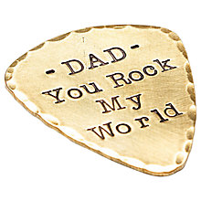 Buy Twisted Typist Personalised Brass Plectrum with Leather Keyring Case Online at johnlewis.com
