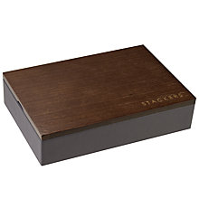 Buy Stackers Mini Charcoal Cufflink Box With Wooden Lid Online at johnlewis.com