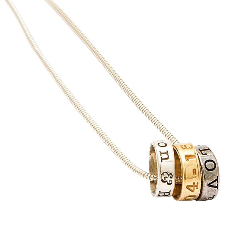 FingerPrint Jewellery Twisted Typist Lyrical Necklace