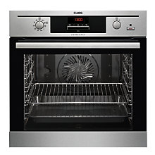 Buy AEG BP500352DM Single Built-In Multifunction SteamBake Oven, Stainless Steel Online at johnlewis.com