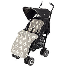 Buy John Lewis Baby Penguin Pushchair Footmuff, Grey Online at johnlewis.com