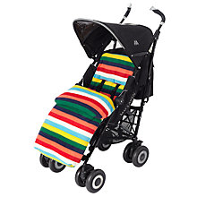 Buy John Lewis Baby Rainbow Stripe Pushchair Footmuff, Multi Online at johnlewis.com